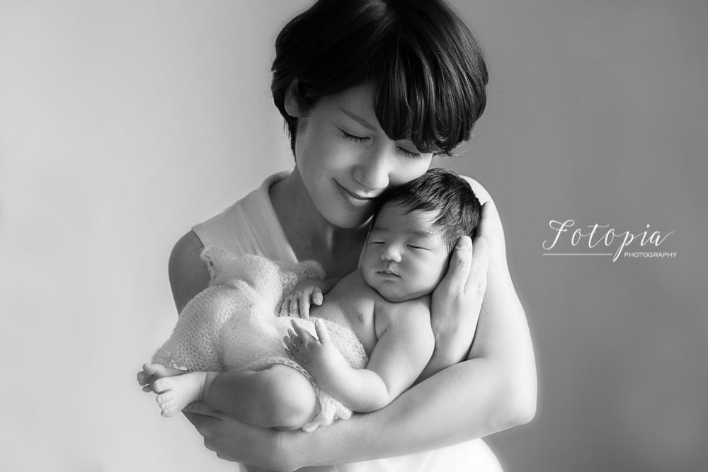 母子の写真